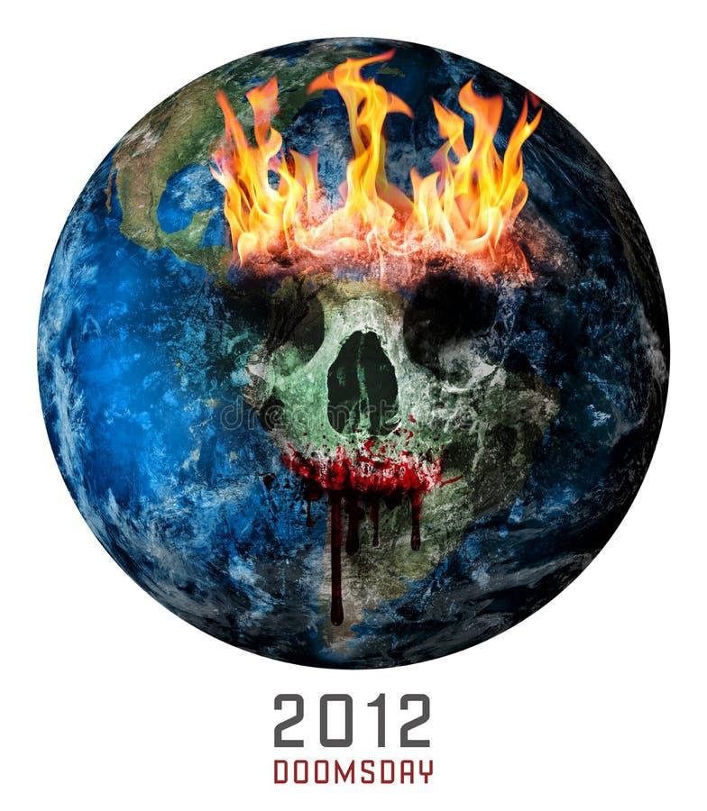 Dia do julgamento final 2012 ilustração do vetor