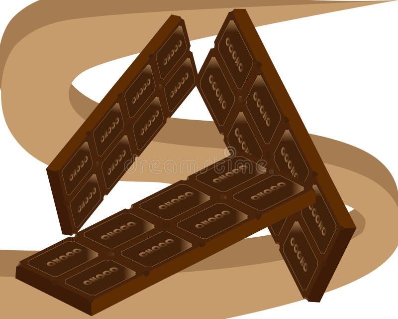 Dia do mundo do feriado do chocolate e dos doces ilustração royalty free