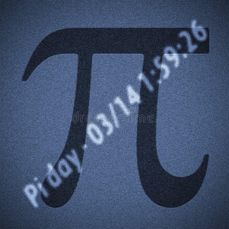 Dia do número do pi ilustração stock