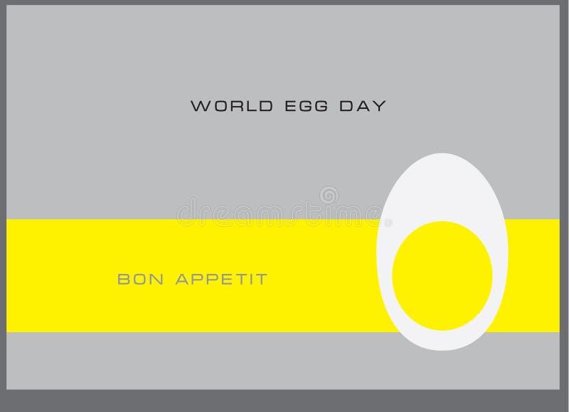 Dia do ovo do mundo ilustração stock