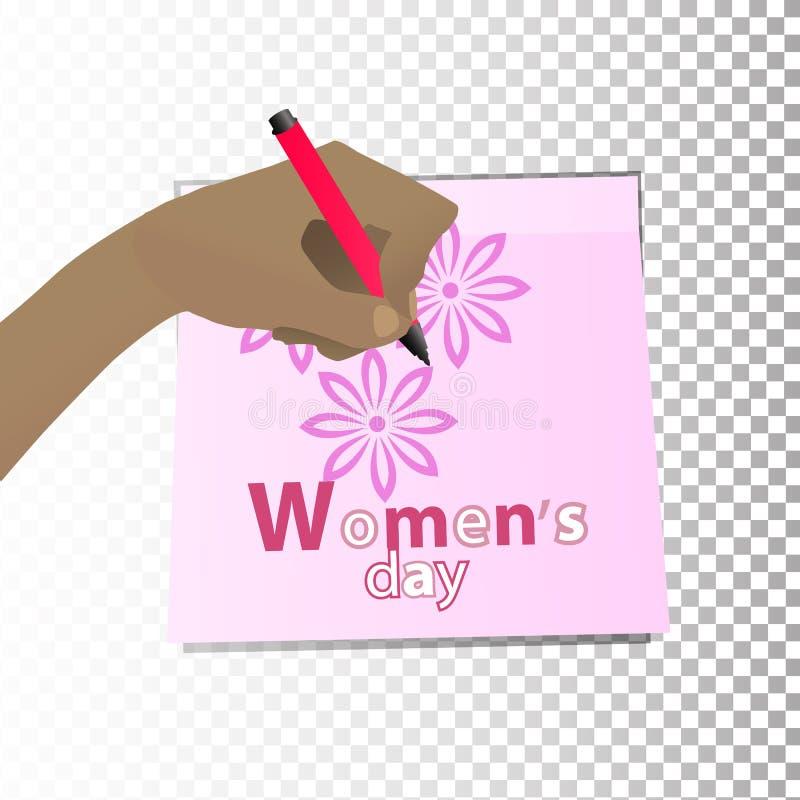 Dia do `s das mulheres feminismo A mão ilustração royalty free