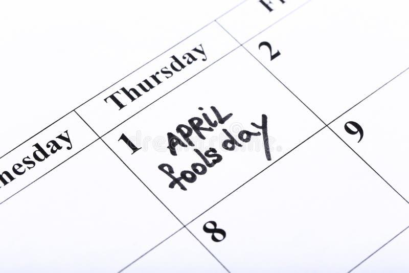Dia do ` s de April Fool imagens de stock