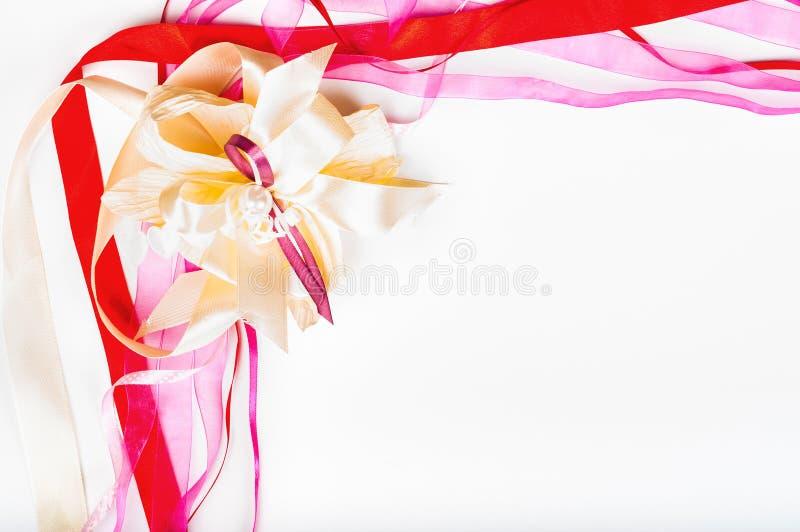 Dia do ` s de Valetine, dia do ` s da mãe, conceito do aniversário - fita colorida foto de stock