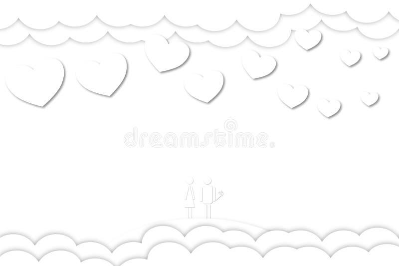 Dia do ` s do Valentim, fundo branco do feriado foto de stock royalty free