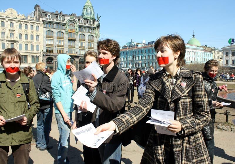 Dia do silêncio em St Petersburg foto de stock