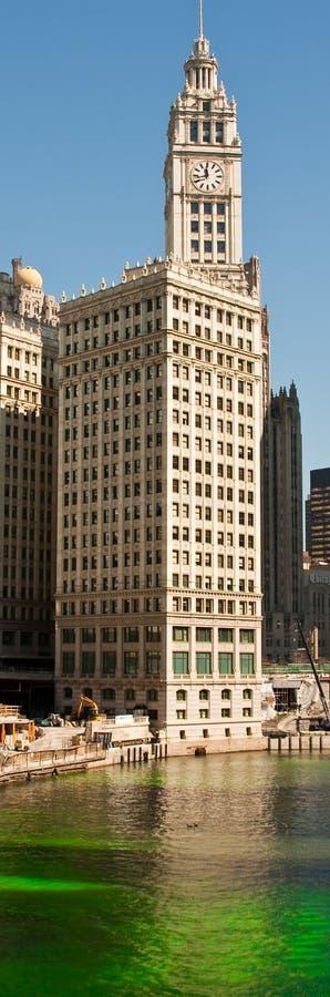 Dia do St Patricks em Chicago fotos de stock