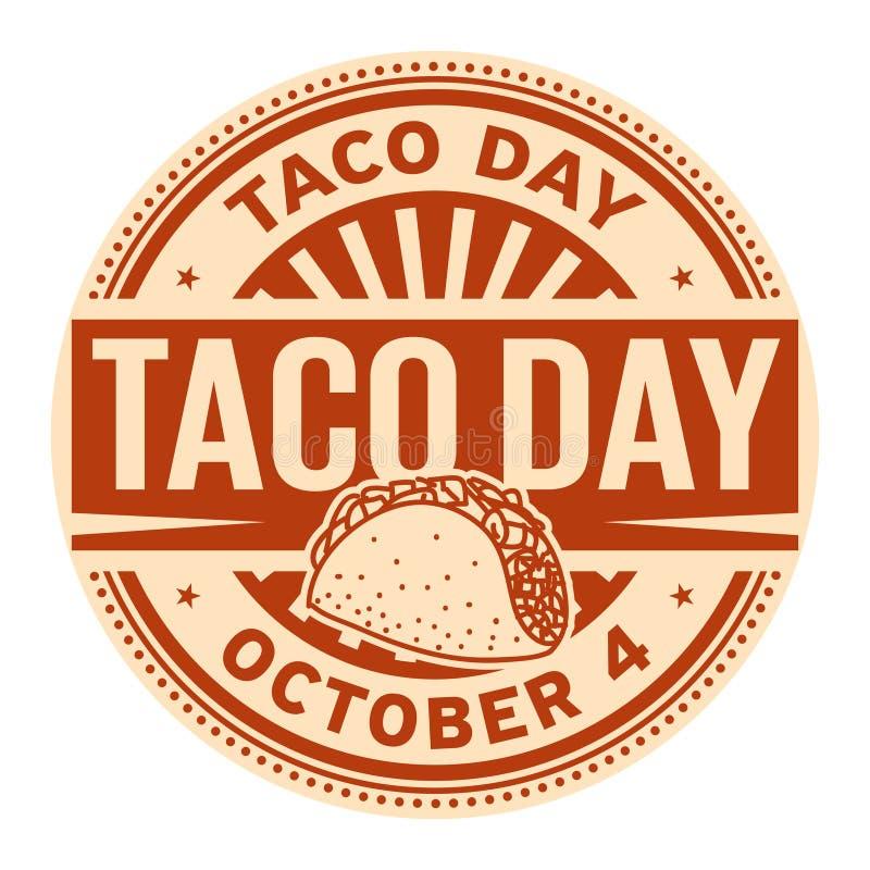 Dia do taco, o 4 de outubro ilustração royalty free