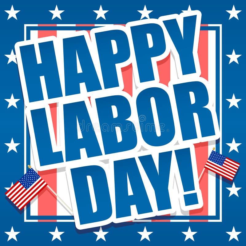 Dia do Trabalhador feliz ilustração royalty free