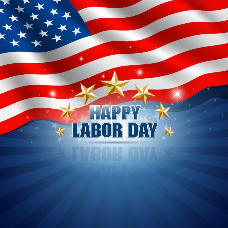 Dia do Trabalhador no fundo americano ilustração stock