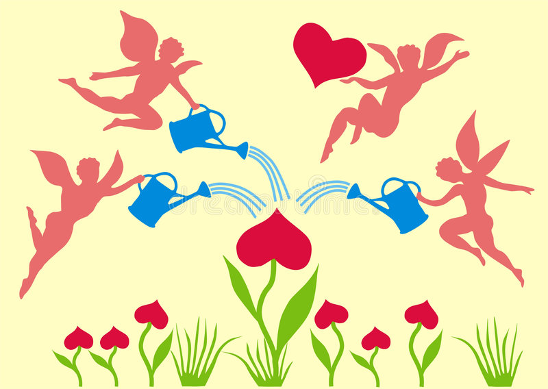 Dia do Valentim ilustração royalty free