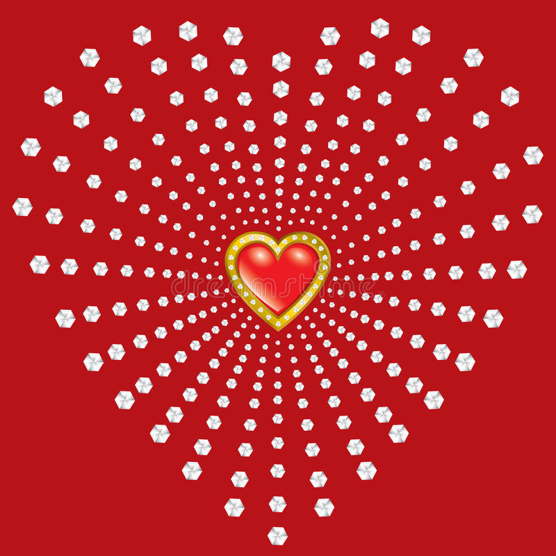 Dia do Valentim de Saint ilustração do vetor
