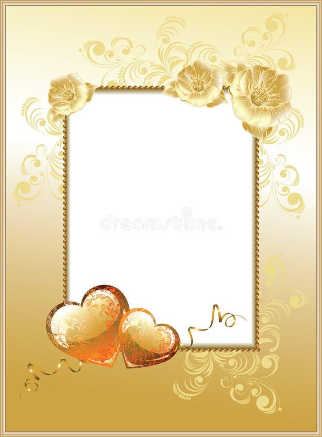 dia do Valentim do Frame-fundo ilustração stock