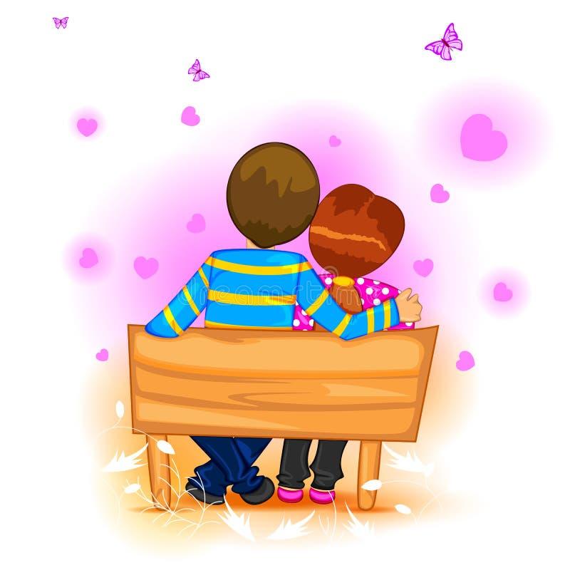 Dia do Valentim feliz ilustração royalty free