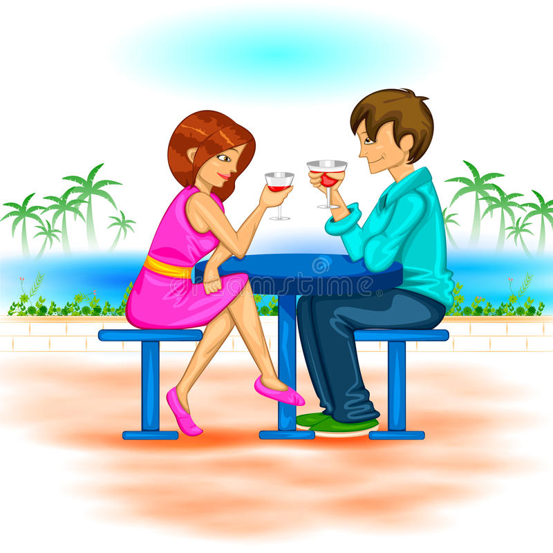 Dia do Valentim feliz ilustração stock