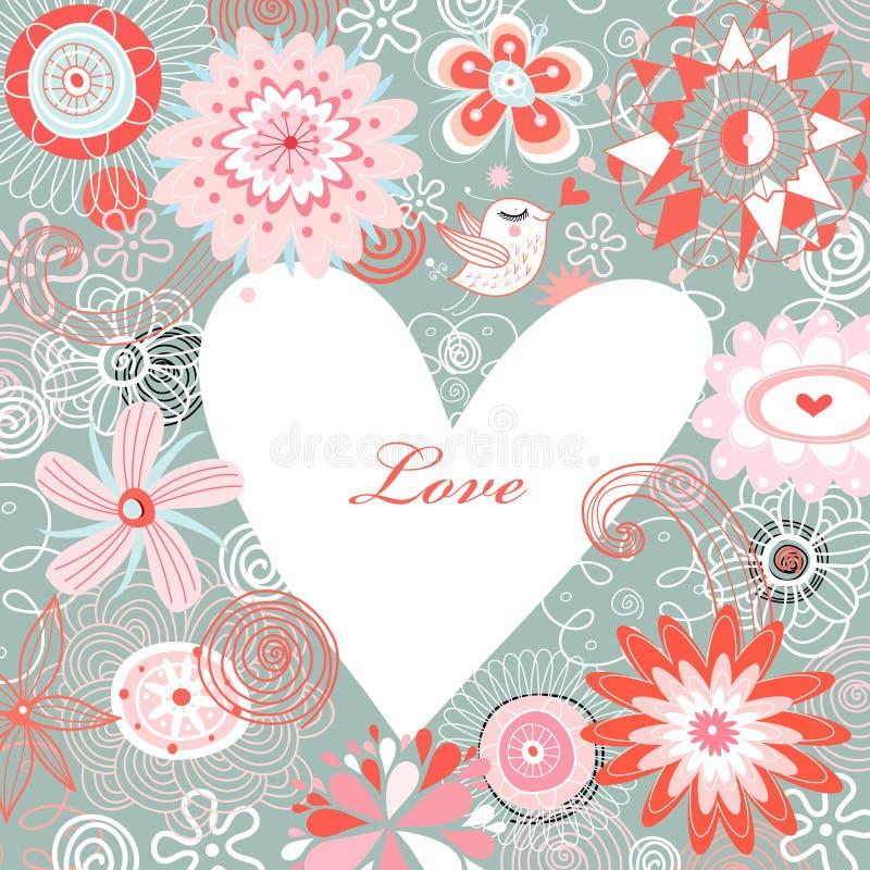 Dia do Valentim feliz do cartão ilustração do vetor