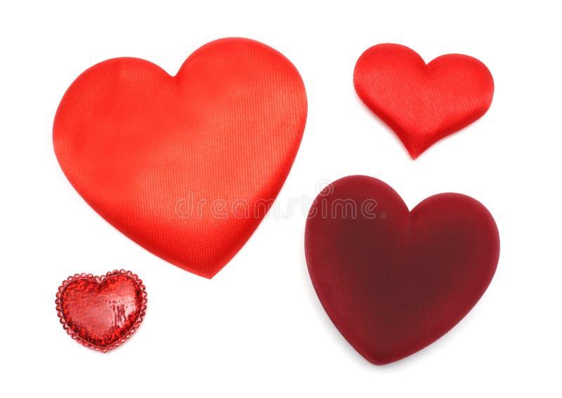 Dia do Valentim - quatro corações diferentes foto de stock royalty free