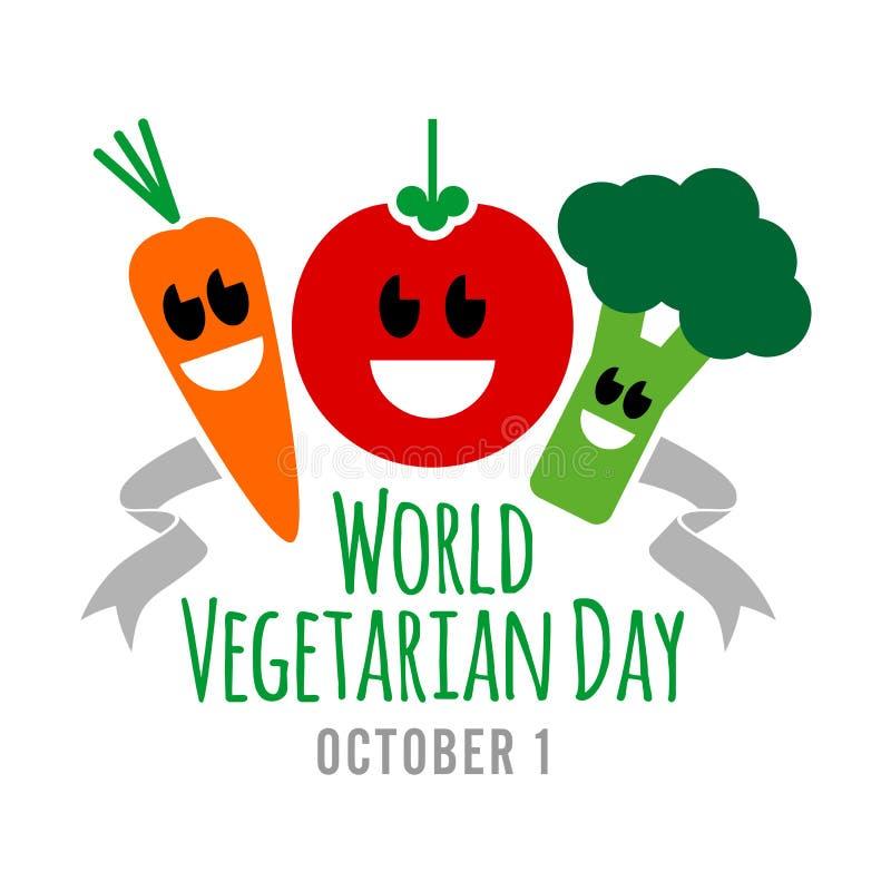 Dia do vegetariano ilustração stock