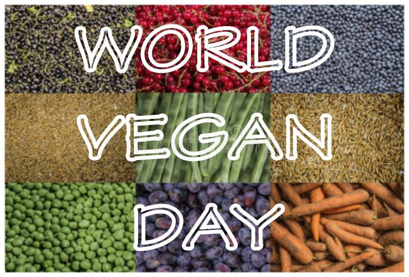 Dia do vegetariano do mundo imagem de stock royalty free