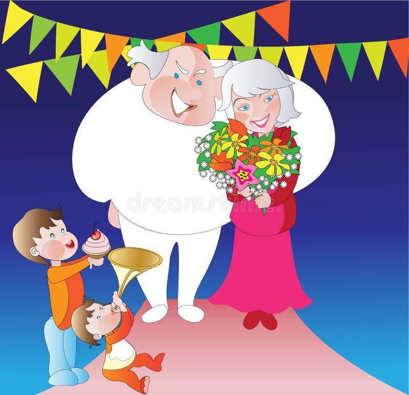 Dia dos grandparents ilustração royalty free