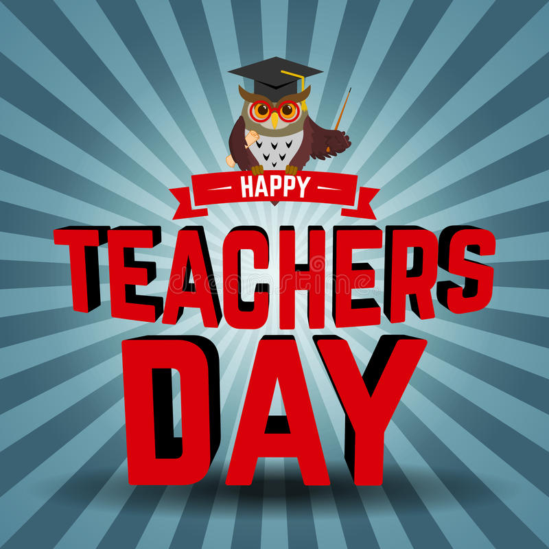 Dia dos professores ilustração do vetor
