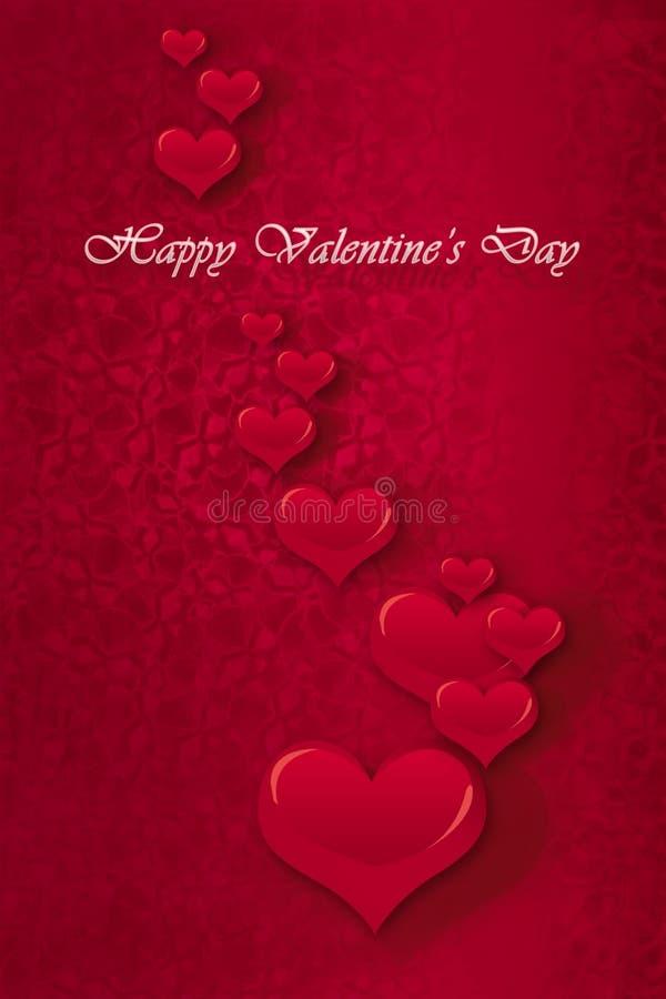 Dia dos Valentim felizes ilustração do vetor