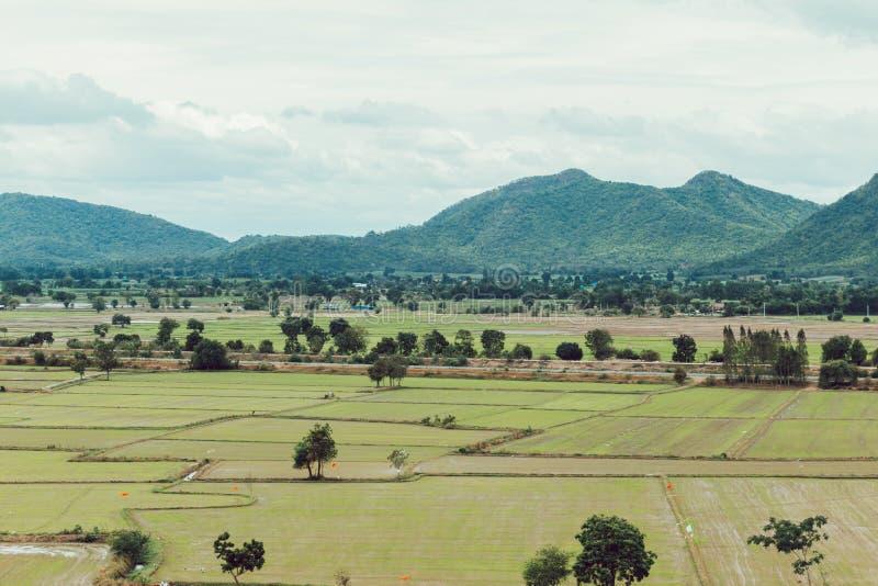 Dia e nuvem de verão do campo da agricultura chuvosos fotos de stock