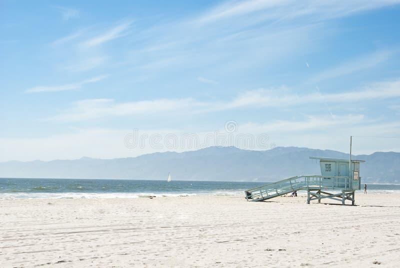 Dia ensolarado na praia 2 de Veneza de 7 fotos de stock