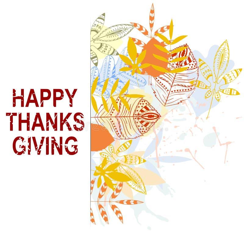 Dia feliz da acção de graças ilustração do vetor