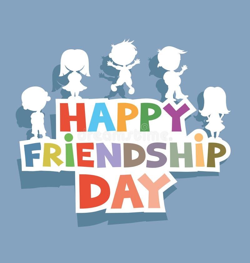 Dia feliz da amizade ilustração stock