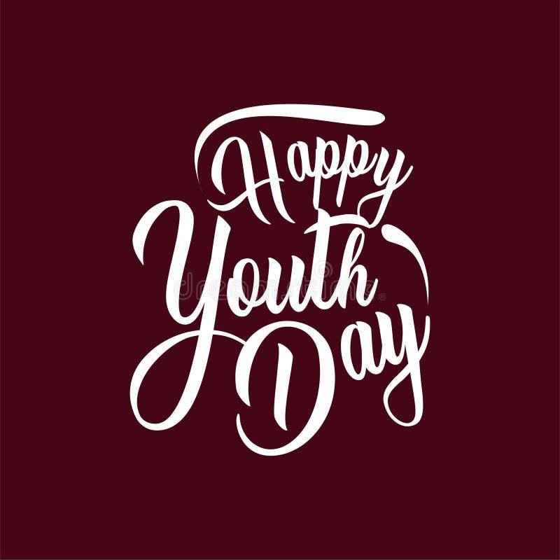 Dia feliz da juventude Tipografia da rotulação do vintage Ilustra??o do vetor ilustração do vetor