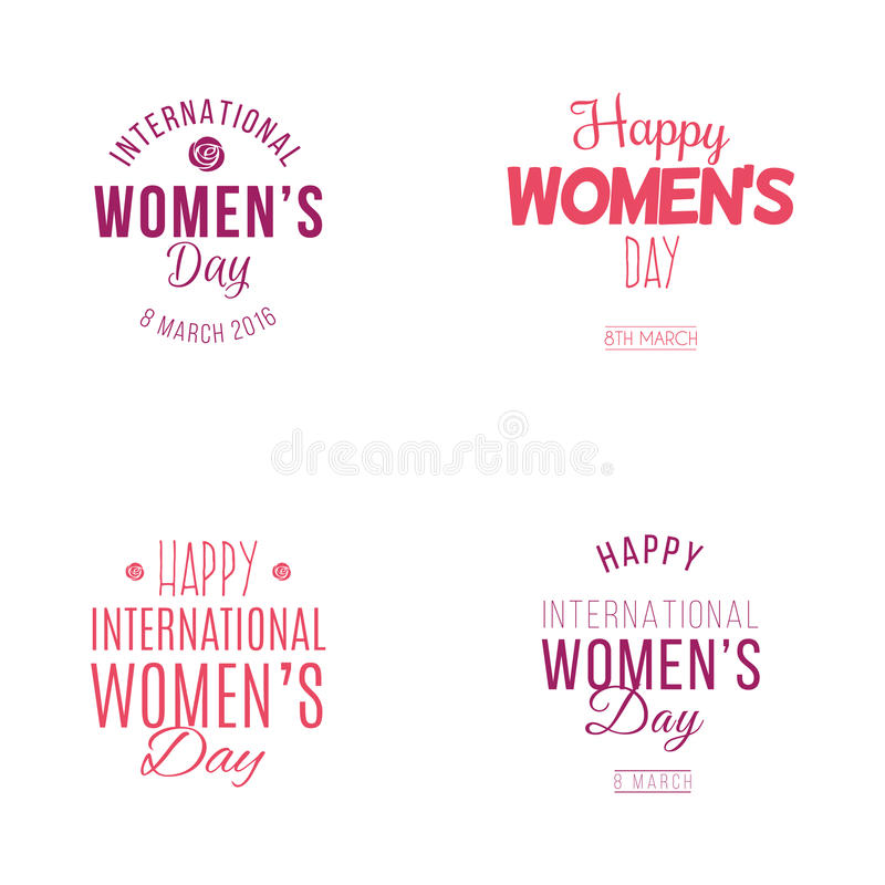 Dia feliz das mulheres ilustração stock