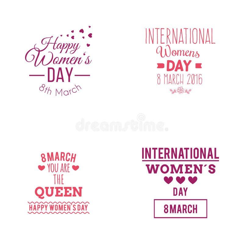 Dia feliz das mulheres ilustração do vetor