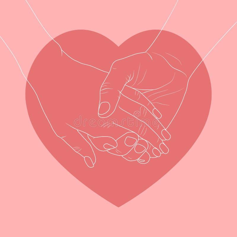 Dia feliz do `s do Valentim ilustração do vetor