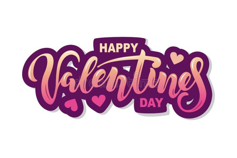 Dia feliz do `s do Valentim ilustração royalty free