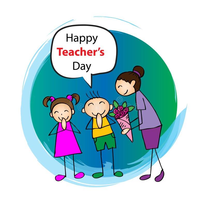 Dia feliz dos professores ilustração do vetor
