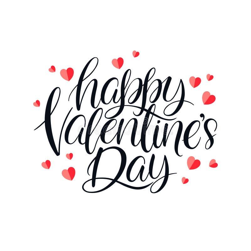 Dia feliz dos Valentim ilustração do vetor