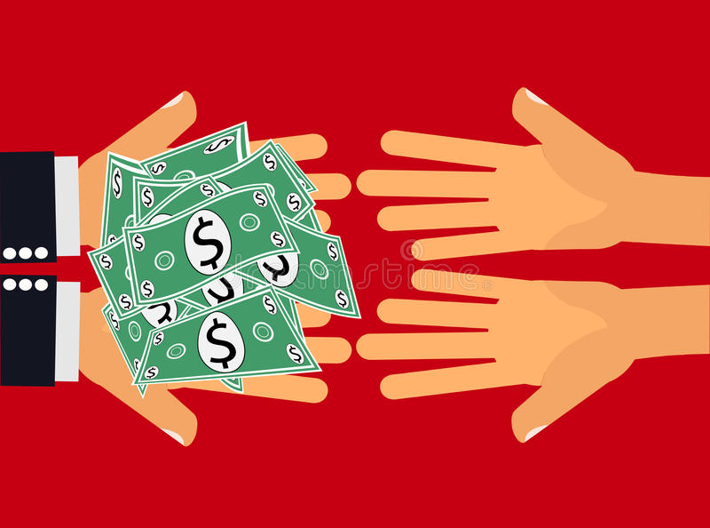 Dia i soldi illustrazione vettoriale