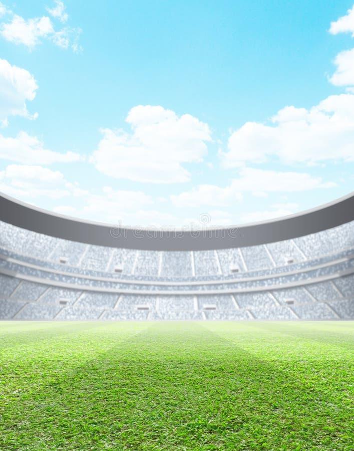 Dia iluminado por holofotes do estádio ilustração royalty free