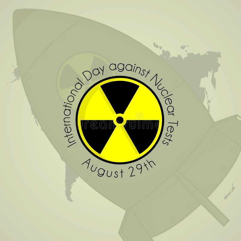 Dia internacional contra a prova nuclear ilustração royalty free