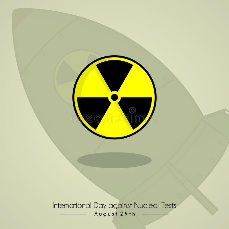 Dia internacional contra a prova nuclear ilustração stock
