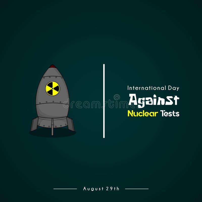 Dia internacional contra a prova nuclear ilustração do vetor