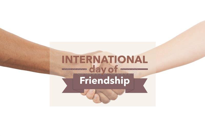 Dia internacional da amizade imagem de stock royalty free