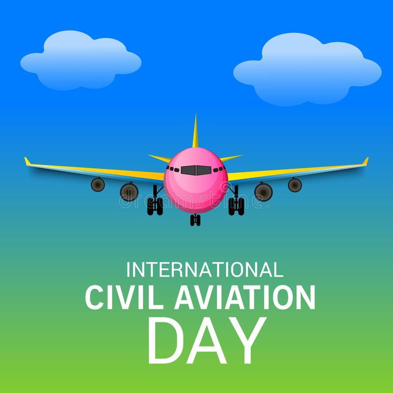 Dia internacional da aviação civil ilustração do vetor