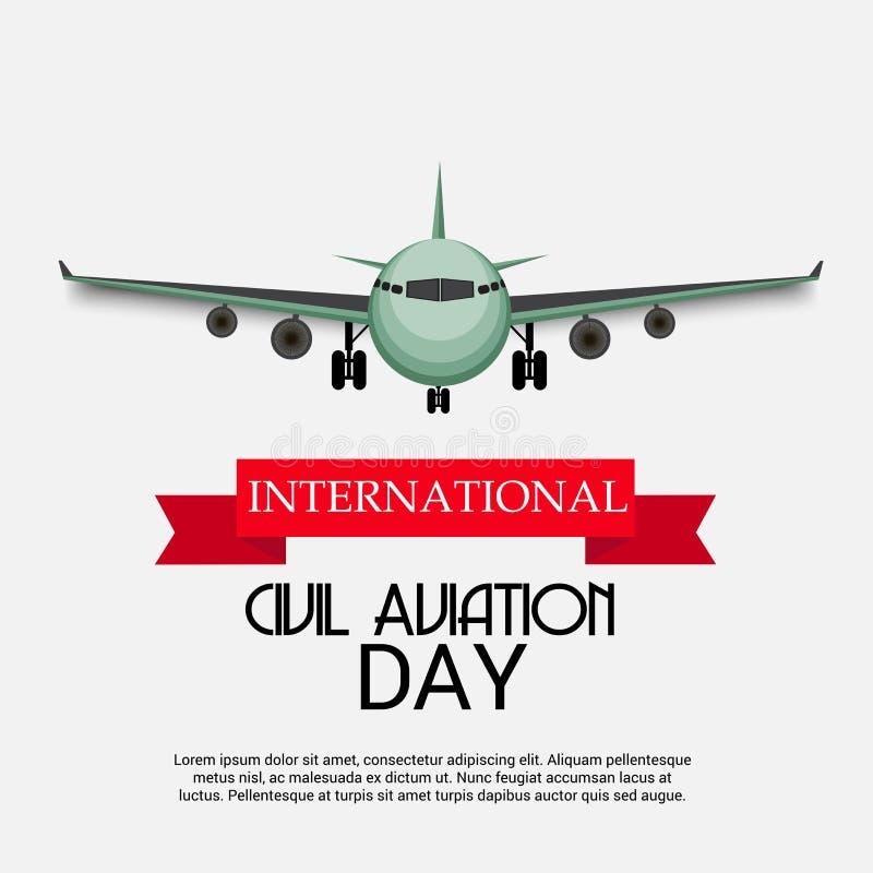Dia internacional da aviação civil ilustração royalty free
