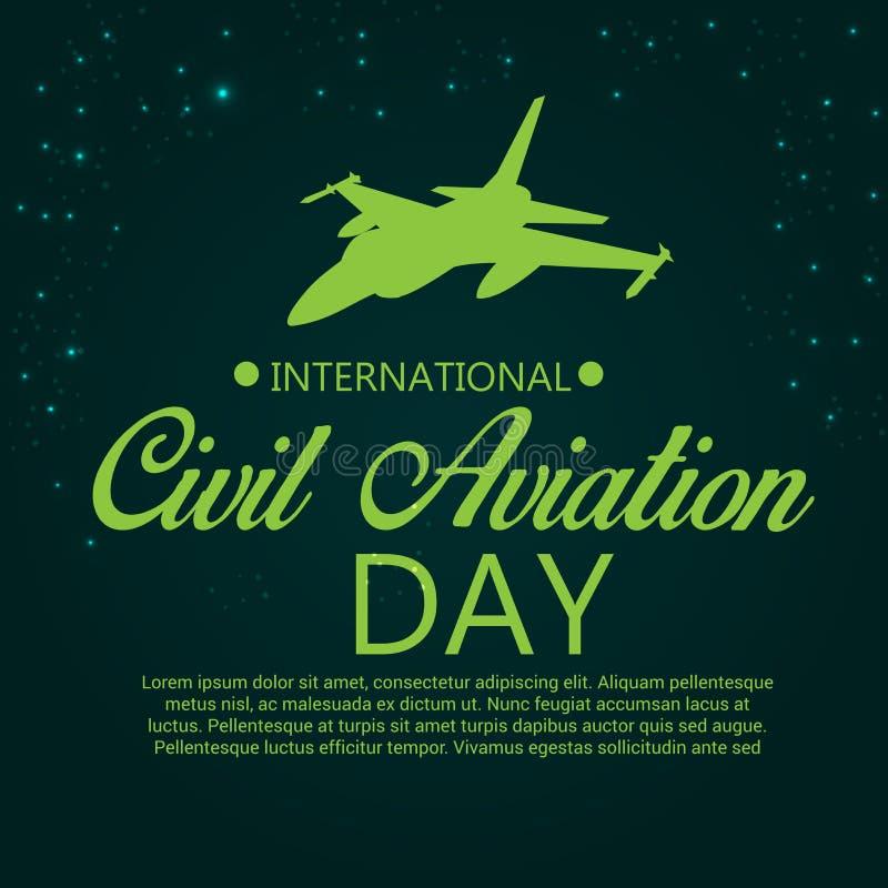 Dia internacional da aviação civil ilustração stock
