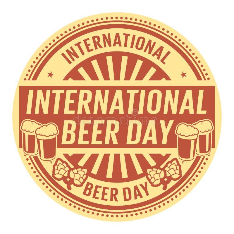 Dia internacional da cerveja ilustração royalty free