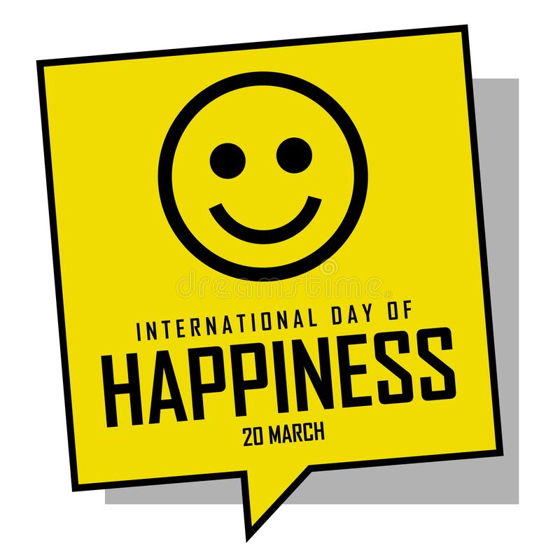 Dia internacional da felicidade ilustração royalty free