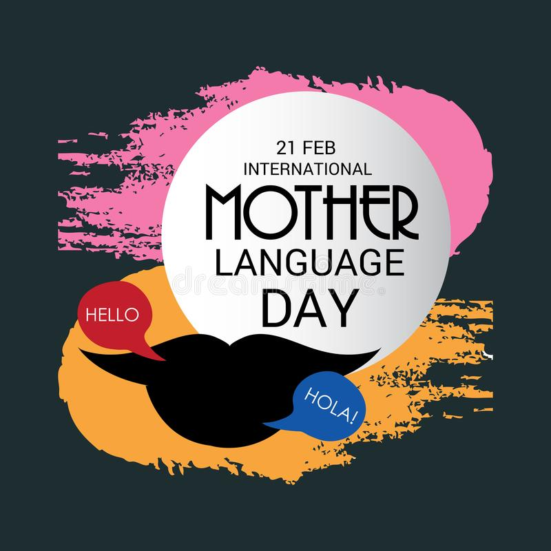 Dia internacional da língua de mãe ilustração stock