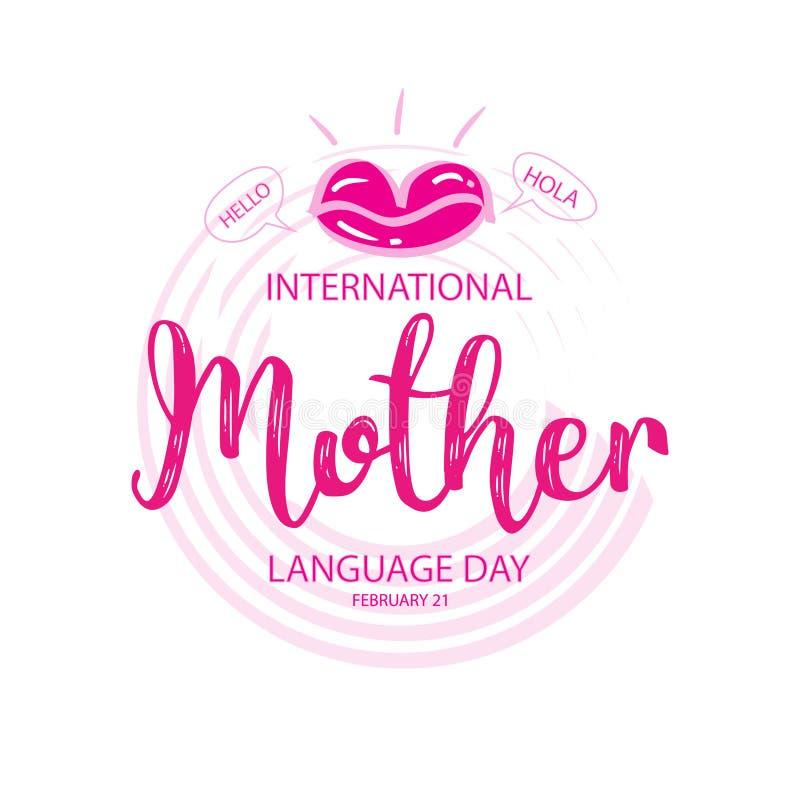 Dia internacional da língua de mãe ilustração do vetor
