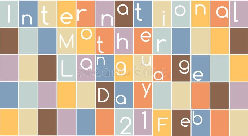 Dia internacional da língua de mãe ilustração royalty free